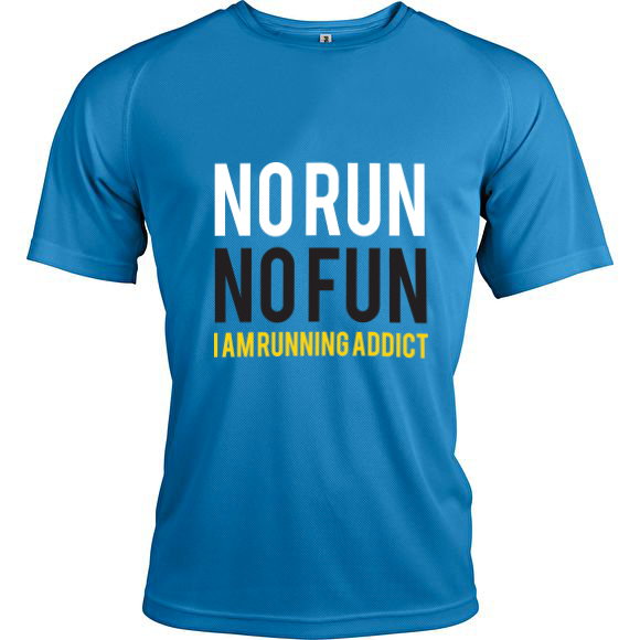 t shirt no run no fun homme boutique running addict. Black Bedroom Furniture Sets. Home Design Ideas