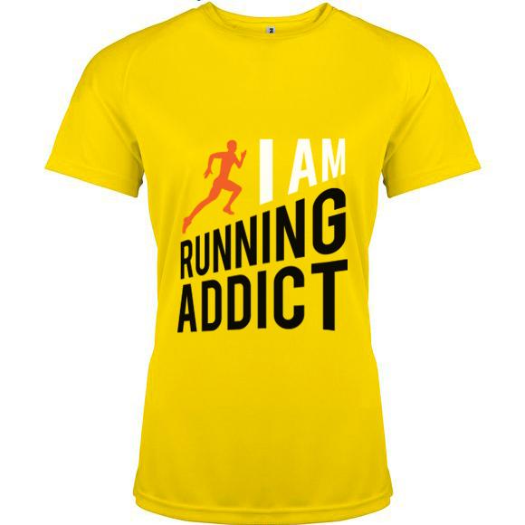 t-shirts-running-addict-jaune-femme