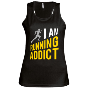 débardeur running addict noir femme